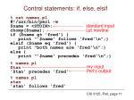 control statements if else elsif