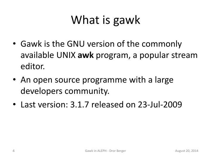 What is gawk