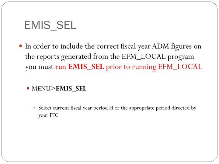 EMIS_SEL