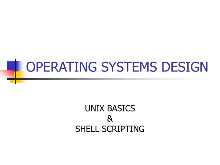 operating systems design n.