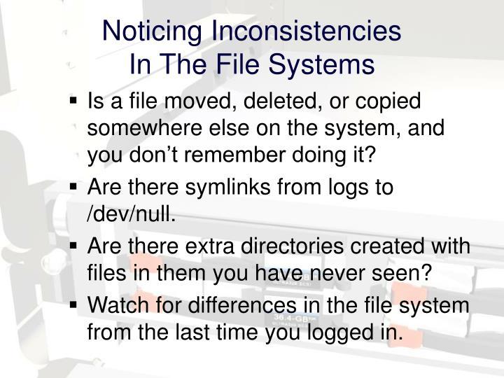 Noticing Inconsistencies