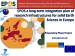 epos a long term integration plan of research infrastructures for solid earth science in europe