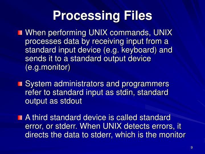 Processing Files
