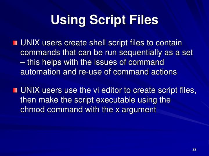 Using Script Files