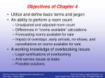 objectives of chapter 4
