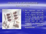 ovulos y supositorios vaginales