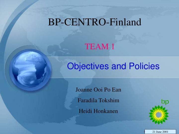 Bp centro finland