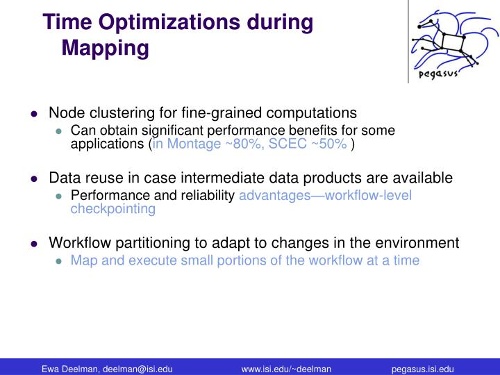 Time Optimizations during Mapping