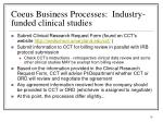 coeus business processes industry funded clinical studies