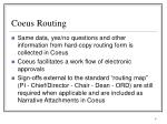 coeus routing