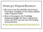 grants gov proposal resources