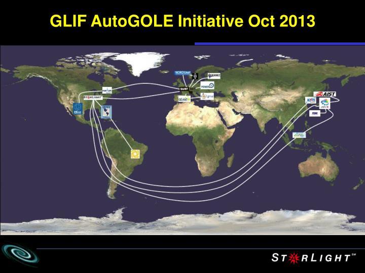 GLIF AutoGOLE Initiative Oct 2013