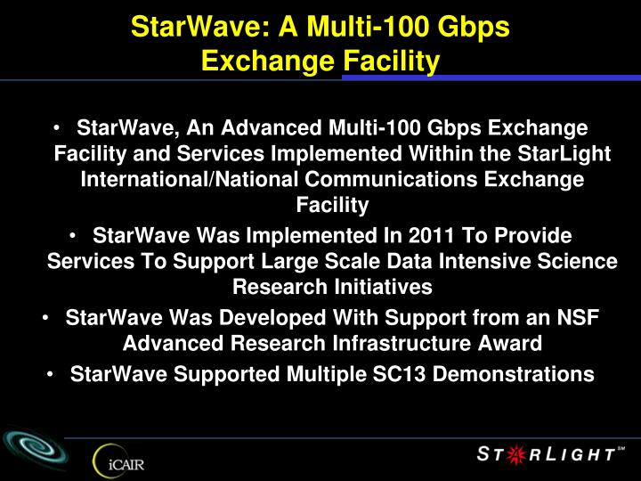 StarWave: A Multi-100 Gbps