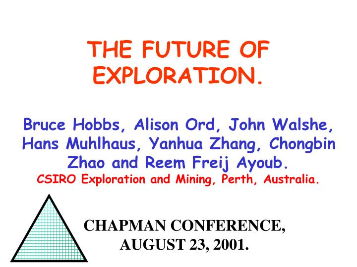 chapman conference august 23 2001 n.