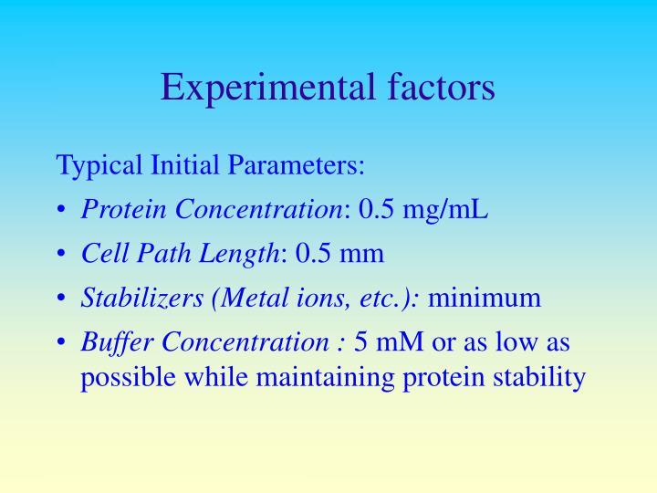 Experimental factors
