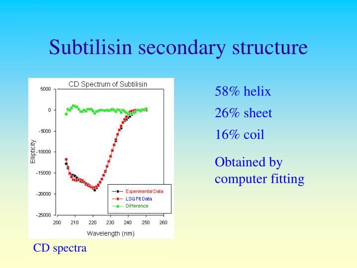 Subtilisin secondary structure