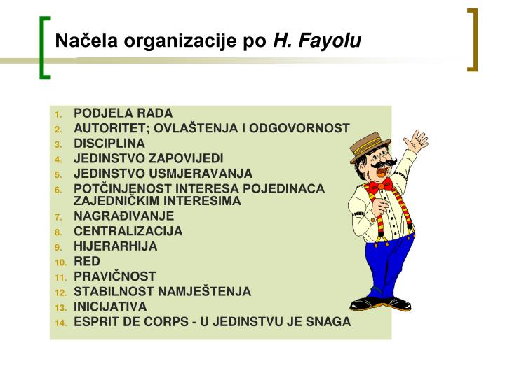 Načela organizacije po