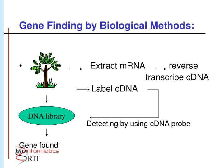 Gene finding by biological methods