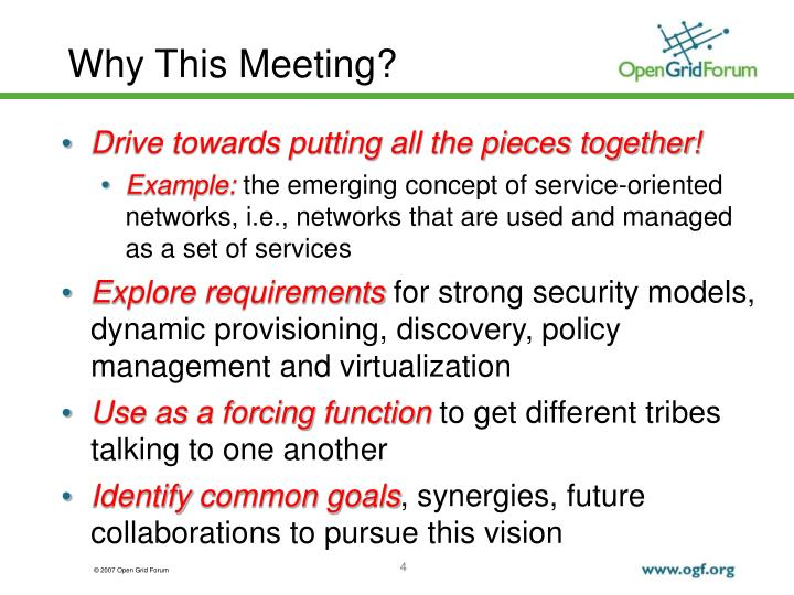 Why This Meeting?