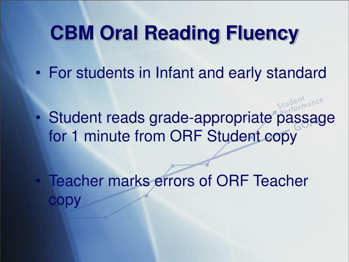 Cbm oral reading fluency