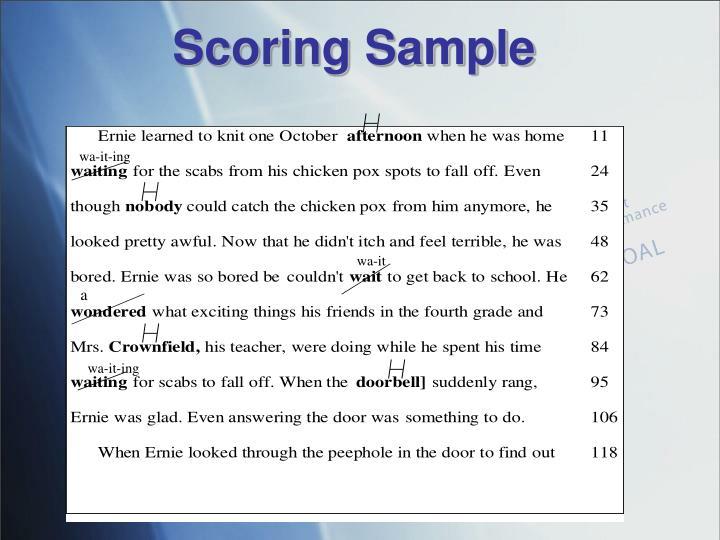 Scoring Sample