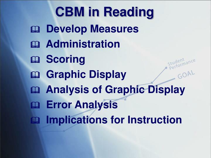 CBM in Reading
