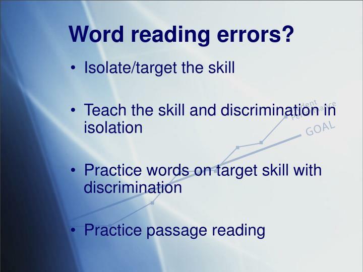 Word reading errors?