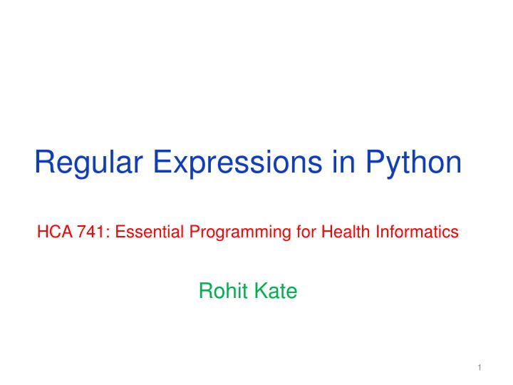 regular expressions in python n.