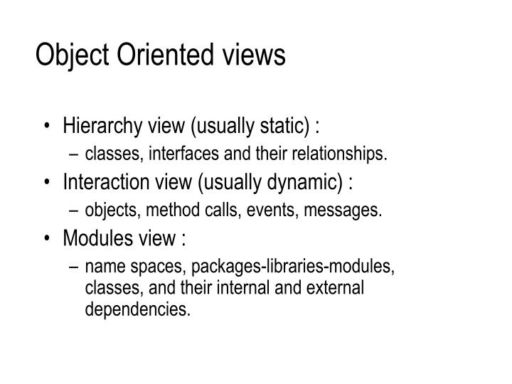 Object Oriented views