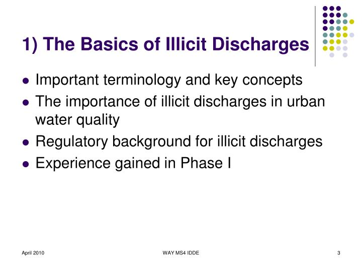 1 the basics of illicit discharges