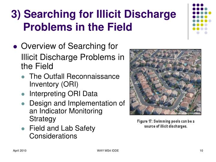 3) Searching for Illicit Discharge