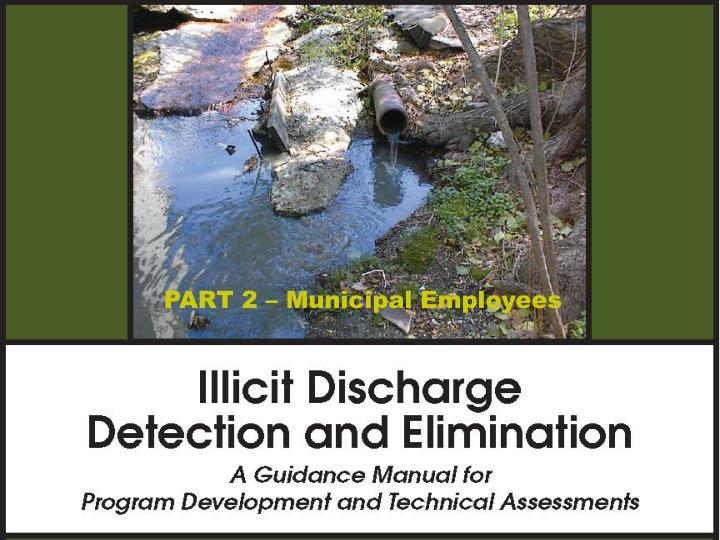 Illicit discharge detection and elimination