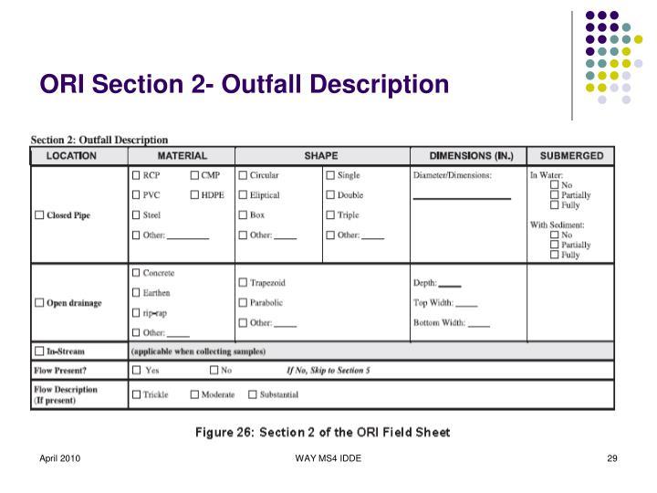 ORI Section 2- Outfall Description