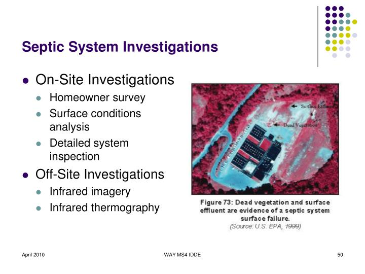 Septic System Investigations