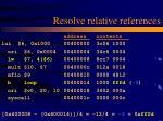 resolve relative references