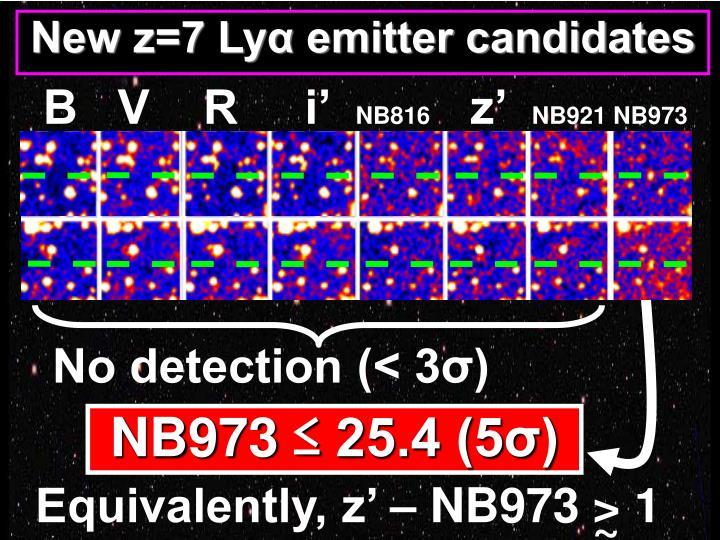 New z=7 Lyα emitter candidates