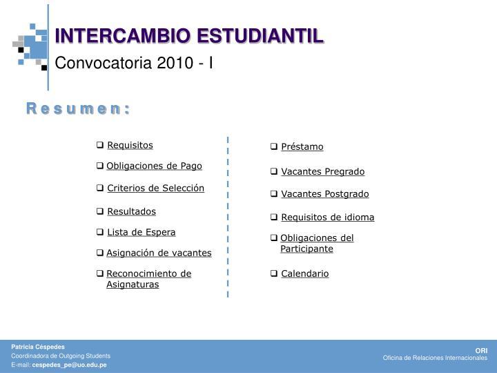 INTERCAMBIO ESTUDIANTIL
