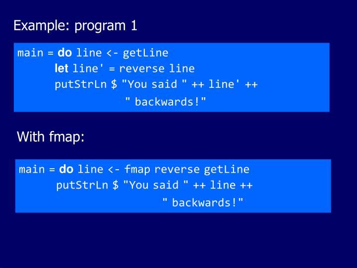 Example: program 1