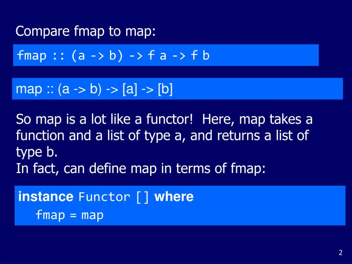 Compare fmap to map:
