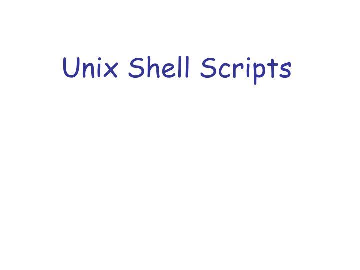 unix shell scripts n.