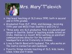 mrs mary t alevich