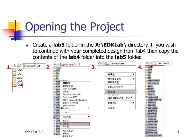 Opening the Project