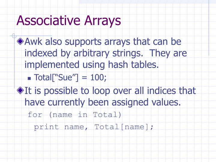Associative Arrays