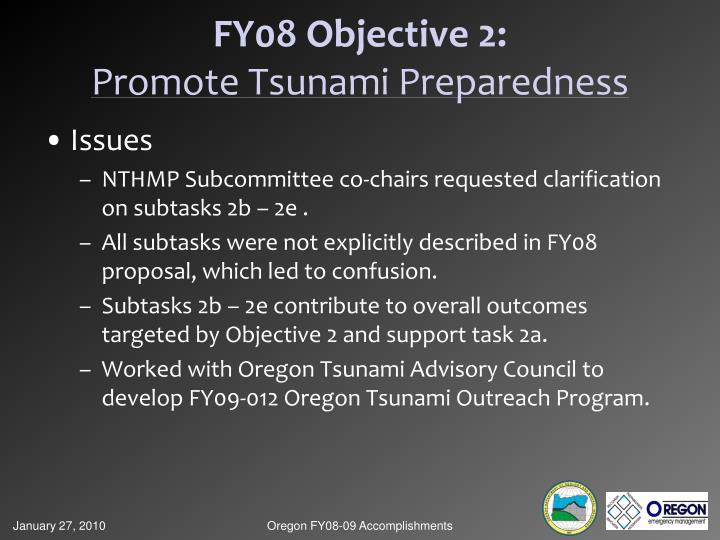 FY08 Objective 2: