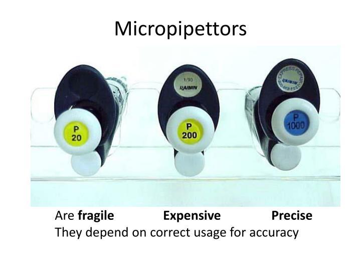 Micropipettors