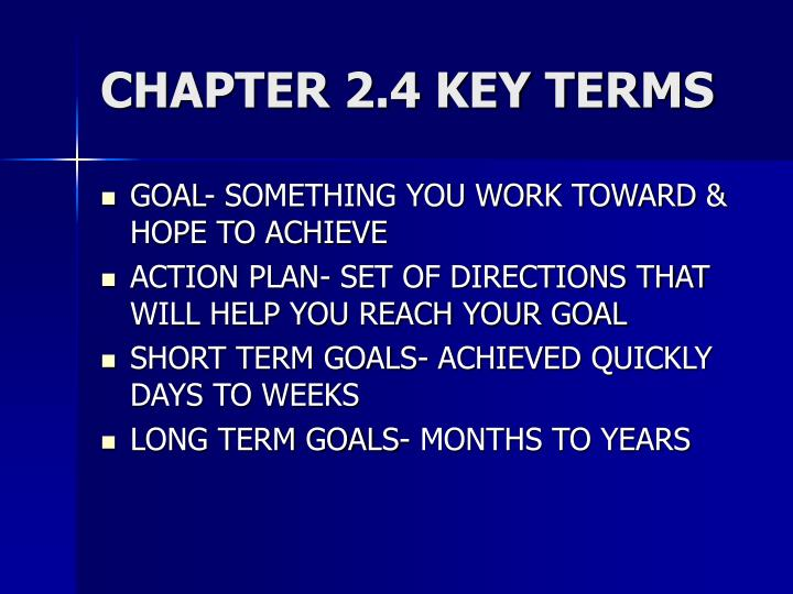 CHAPTER 2.4 KEY TERMS
