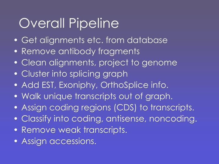 Overall pipeline