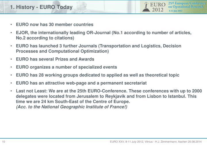 1. History - EURO Today