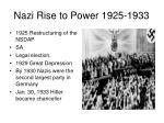 nazi rise to power 1925 1933