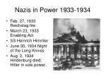 nazis in power 1933 1934